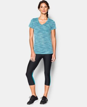 Women's UA Tech™ Space Dye V-Neck  3 Colors $14.99