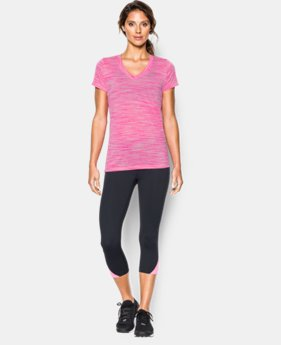 Women's UA Tech™ Space Dye V-Neck  1 Color $14.99