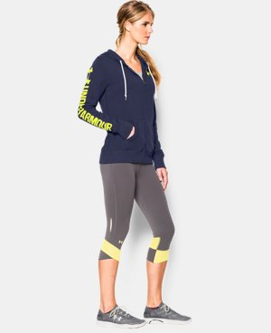 Women's UA Favorite Fleece  Word Mark Full Zip Hoodie LIMITED TIME OFFER + FREE U.S. SHIPPING 1 Color $48.74