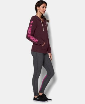 Women's UA Favorite Fleece Word Mark Full Zip Hoodie