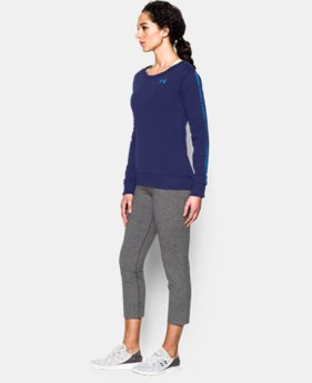 Women's UA Favorite Fleece  Word Mark Crew  1 Color $49.99