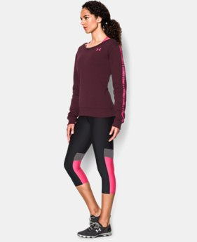 Women's UA Favorite Fleece Word Mark Graphic Crew