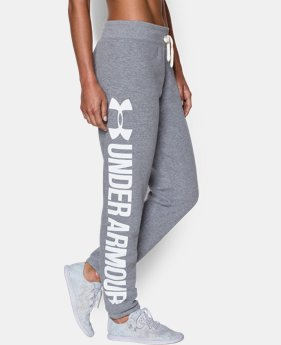 Women's UA Favorite Fleece  Word Mark Boyfriend Pant LIMITED TIME: FREE U.S. SHIPPING 6 Colors $41.24