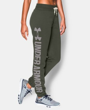 Women's UA Favorite Fleece  Word Mark Boyfriend Pant LIMITED TIME OFFER + FREE U.S. SHIPPING 1 Color $41.24