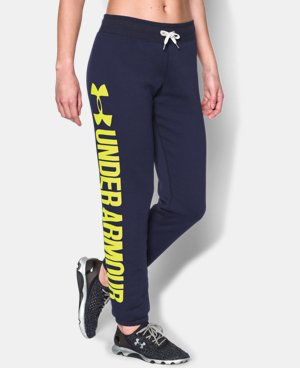 Women's UA Favorite Fleece  Word Mark Boyfriend Pant LIMITED TIME: FREE U.S. SHIPPING 2 Colors $41.24