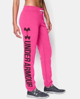 Women's UA Favorite Fleece Word Mark Boyfriend Pant