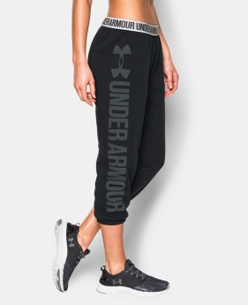 Women's UA Favorite Fleece  Word Mark Capris  1 Color $37.49