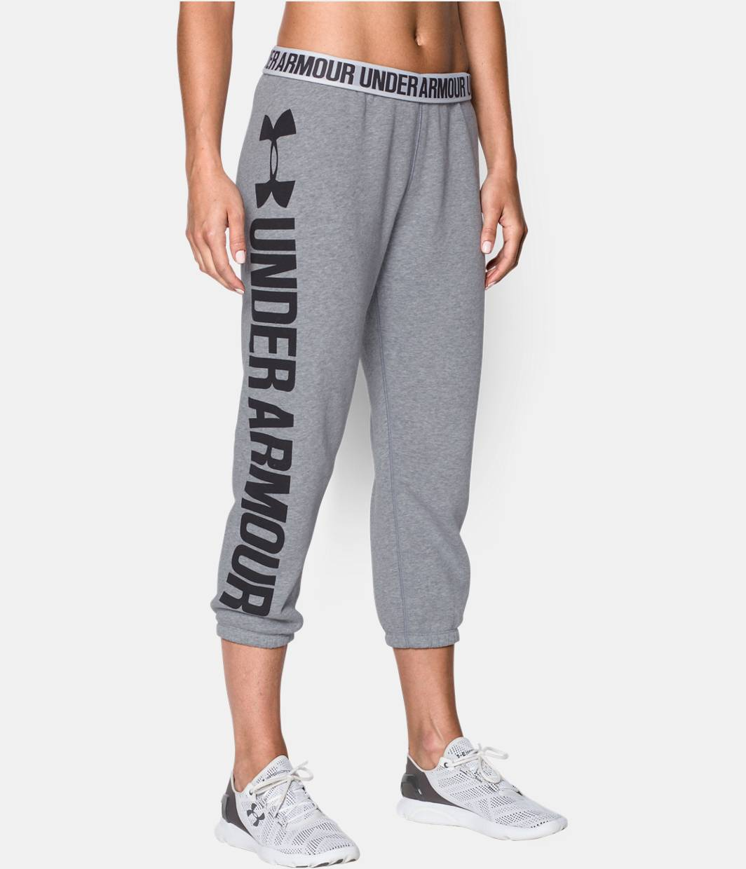 Women's UA Favorite Fleece Word Mark Capris | Under Armour US