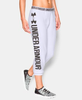 Women's UA Favorite Fleece Word Mark Capris