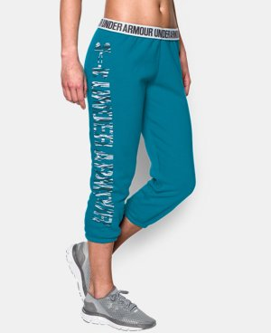 Women's UA Favorite Fleece  Word Mark Capris LIMITED TIME OFFER + FREE U.S. SHIPPING 2 Colors $37.49