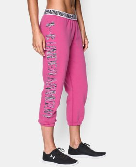 Women's UA Favorite Fleece  Word Mark Capris LIMITED TIME OFFER + FREE U.S. SHIPPING 1 Color $37.49