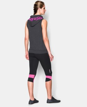 Women's UA Favorite Fleece Word Mark Hooded Vest   $49.99