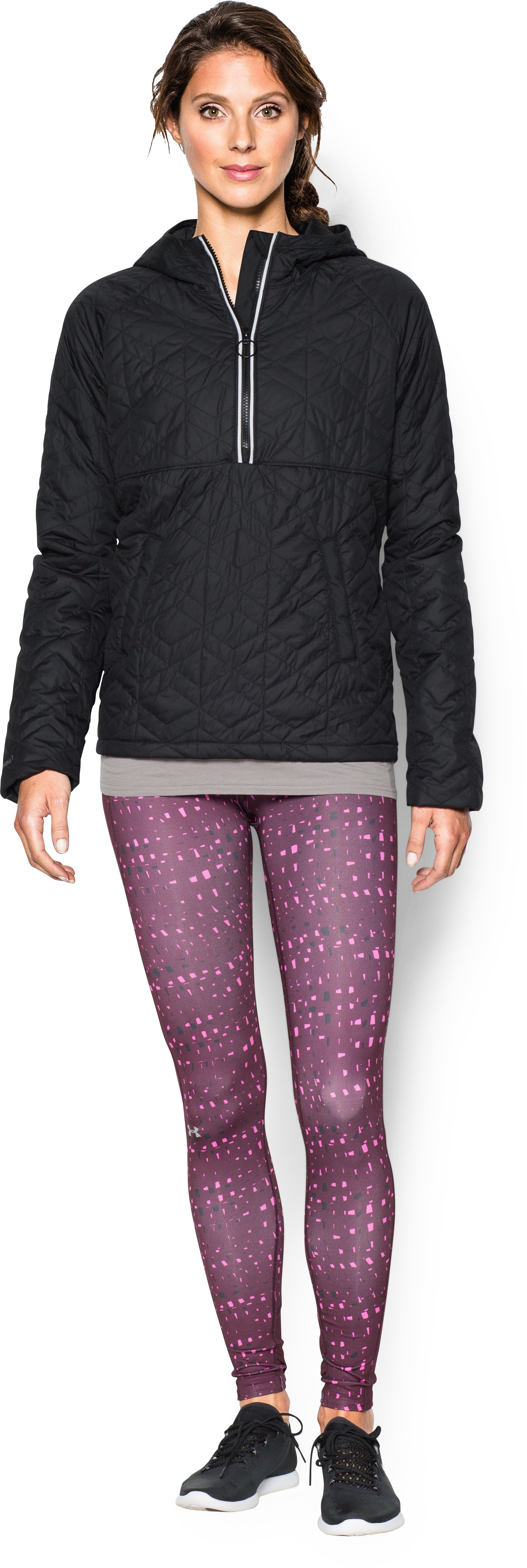 Women's UA Cozy Popover Jacket, Black , zoomed image