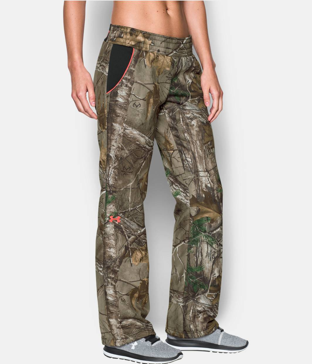 New Under Armour 1260161946 Womens Camo Fleece Hunting Pants In Realtree