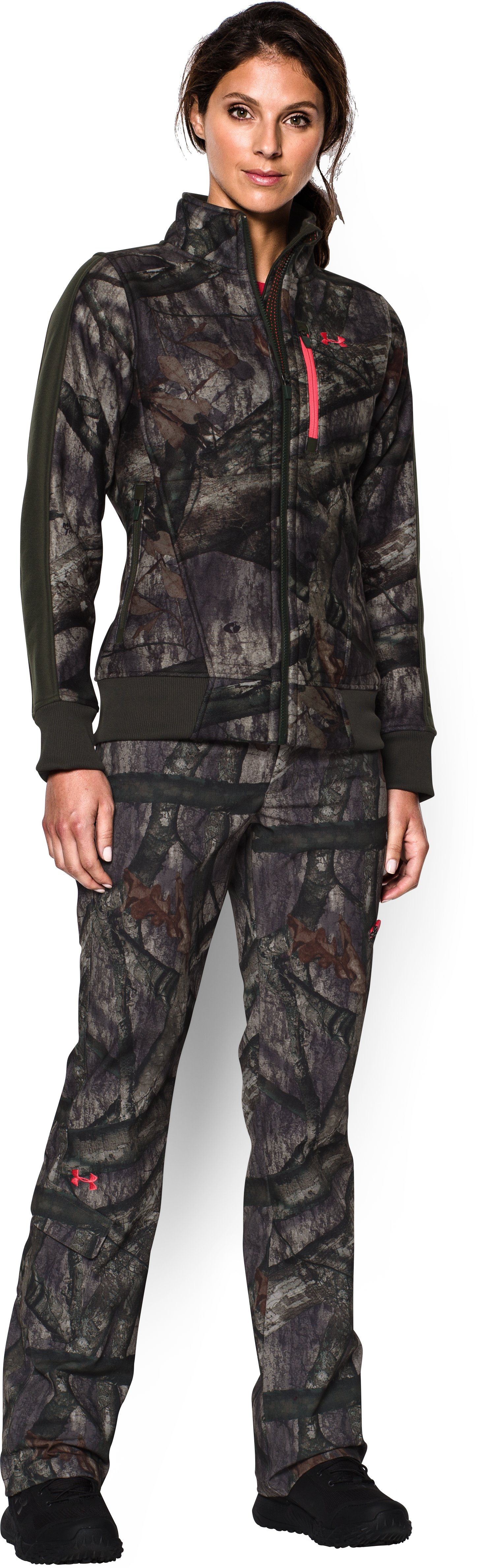 Women's Under Armour® Scent Control Field Pants, Mossy Oak Treestand, Front