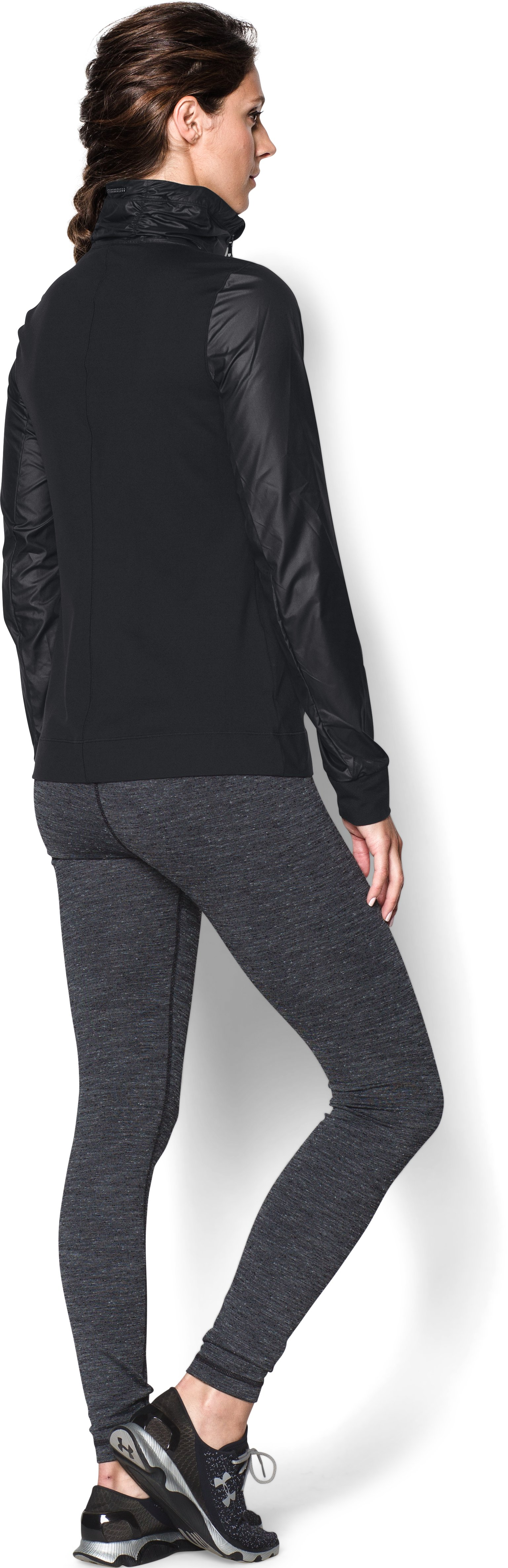 Women's UA Studio Essential Jacket, Black , Back