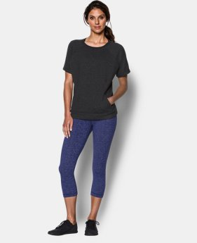 Women's UA Studio Terry Short Sleeve Crew  1 Color $52.99