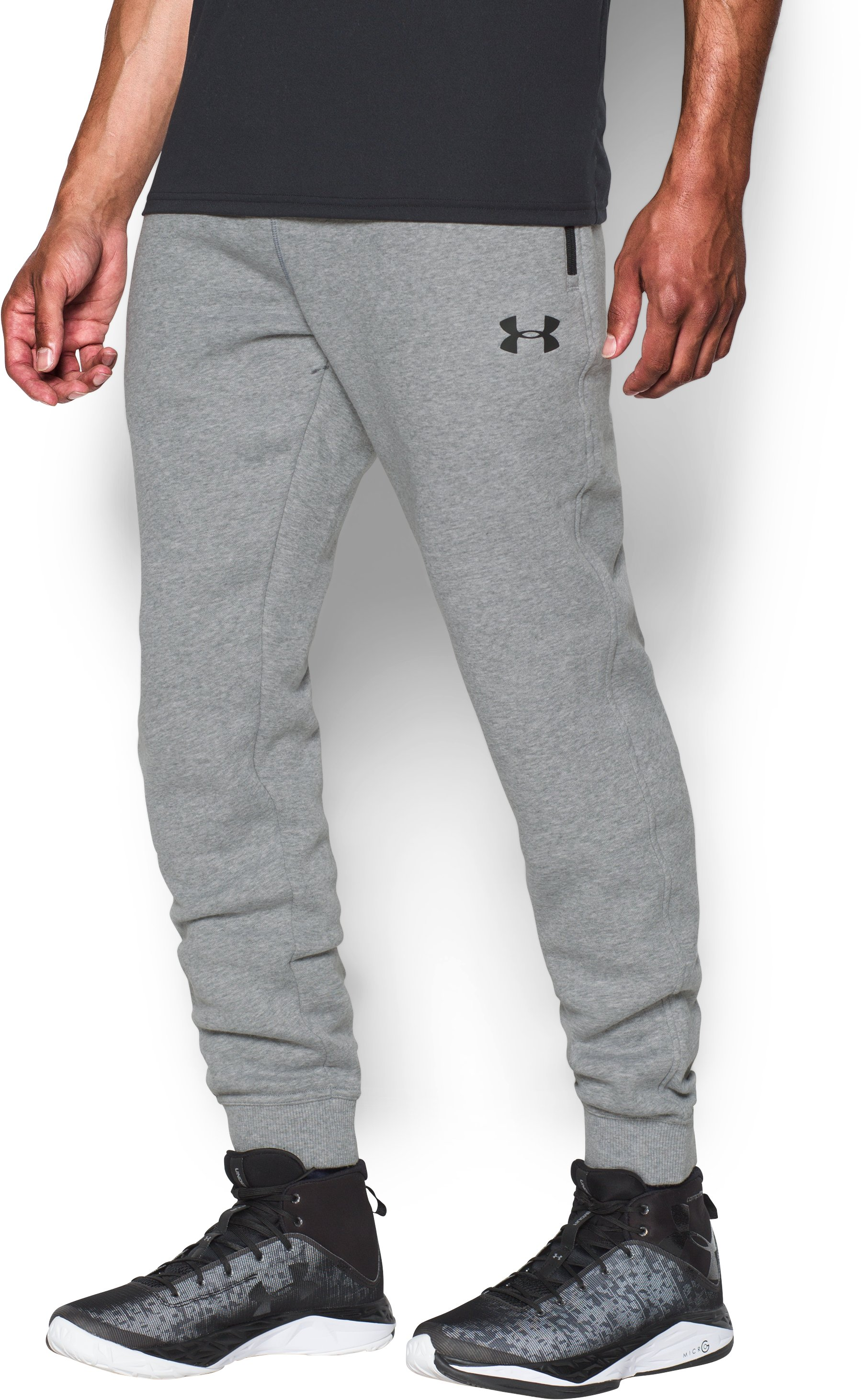 Men's UA SoHo Fleece Jogger Pants, True Gray Heather
