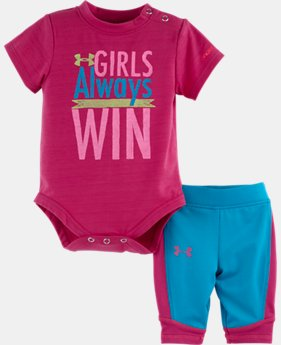 Girls' Newborn UA Girls Always Win Bodysuit Set