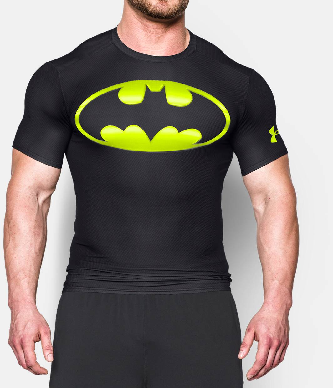Men 39 s under armour alter ego batman compression shirt for Under armour i will shirt