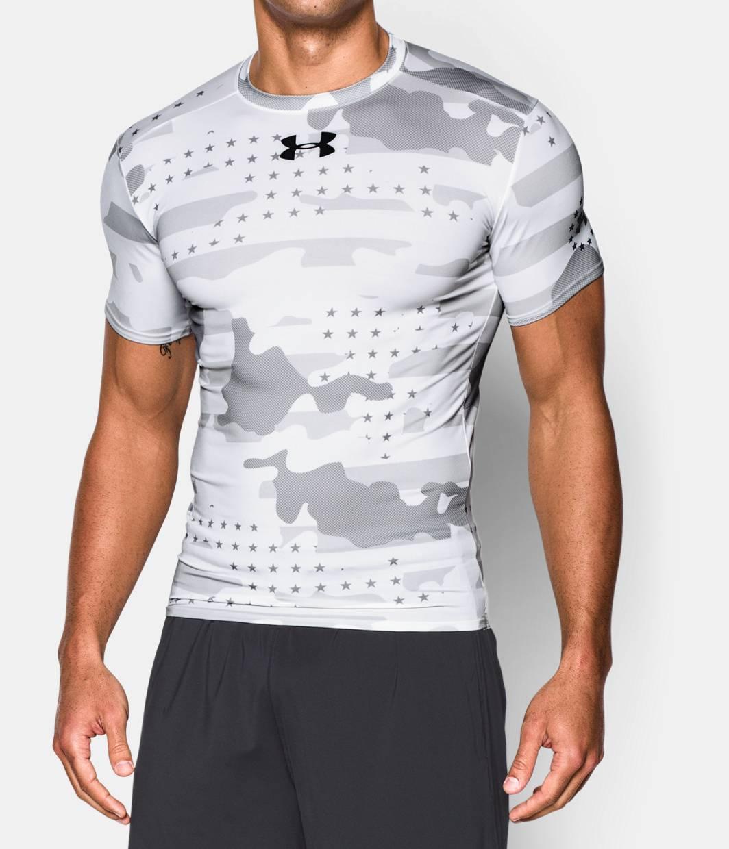 Men s ua freedom camo short sleeve compression shirt for Under armour half sleeve shirt