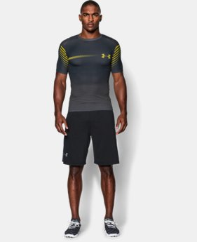 Men's UA HeatGear® Armour Branded Short Sleeve Compression Shirt