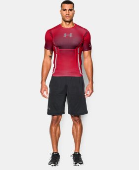 Men's UA HeatGear® Armour Branded Compression Shirt