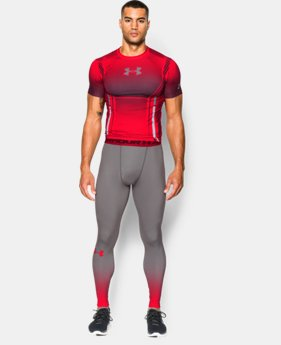 Men's UA HeatGear® Armour Branded Compression Leggings