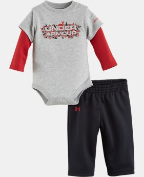 Boys' Newborn UA Wild Outside LS 2-Piece Set