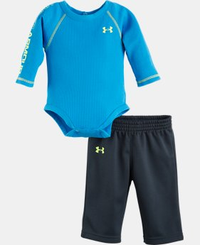 Boys' Newborn UA Dynamism Long Sleeve 2-Piece Set