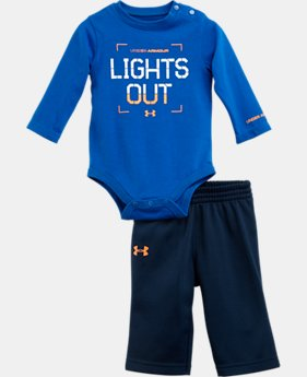 Boys' Newborn UA Lights Out Long Sleeve 2-Piece Set