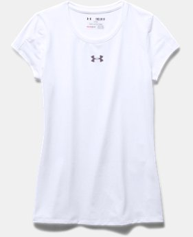 Girls' UA Block Party Short Sleeve Jersey