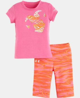 Girls' Infant UA Zebra <3 T-Shirt Set