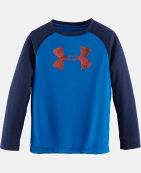 Boys' Infant UA Big Logo Nightvision LS T-Shirt