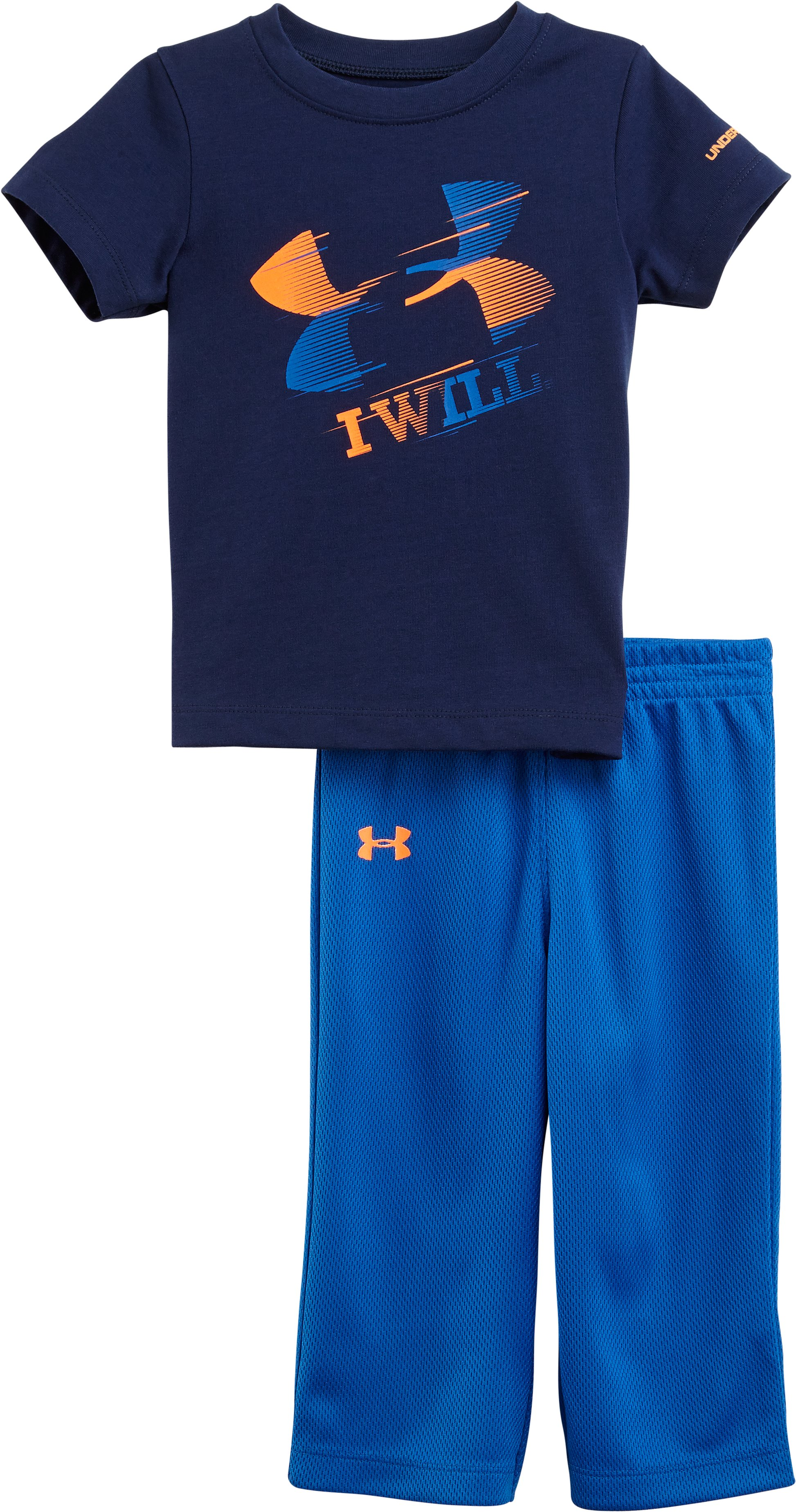 Boys' Infant UA I Will® 2-Piece Set, DEEP SPACE BLUE, Laydown
