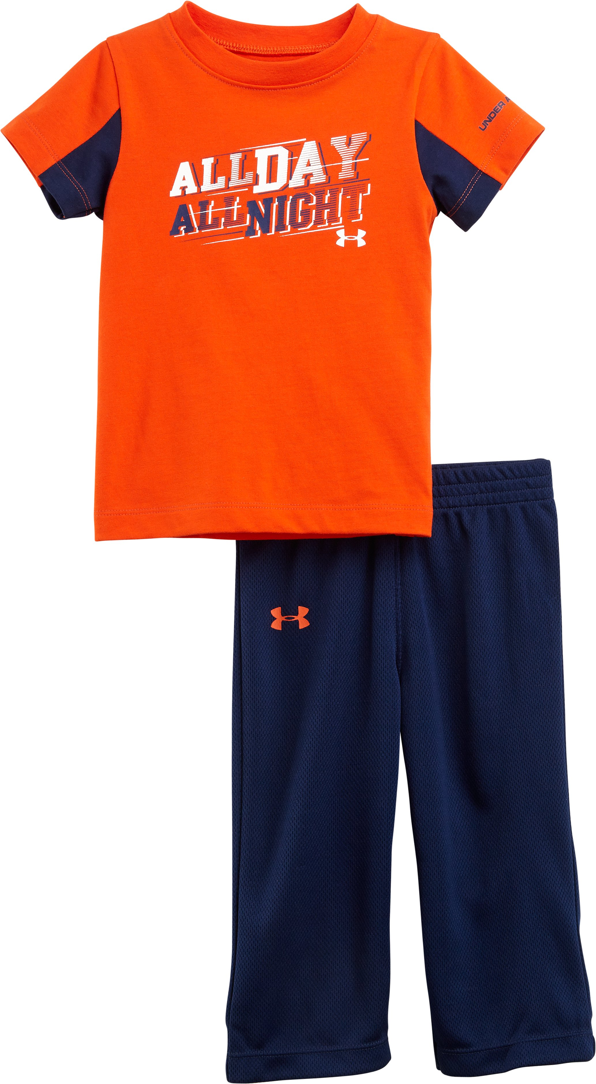 Boys' Infant UA All Day All Night 2-Piece Set, Volcano, Laydown
