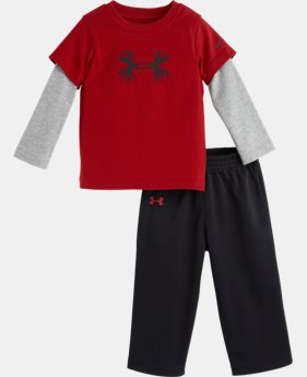 Boys' Infant UA Antler Big Logo Long Sleeve 2-Piece Set
