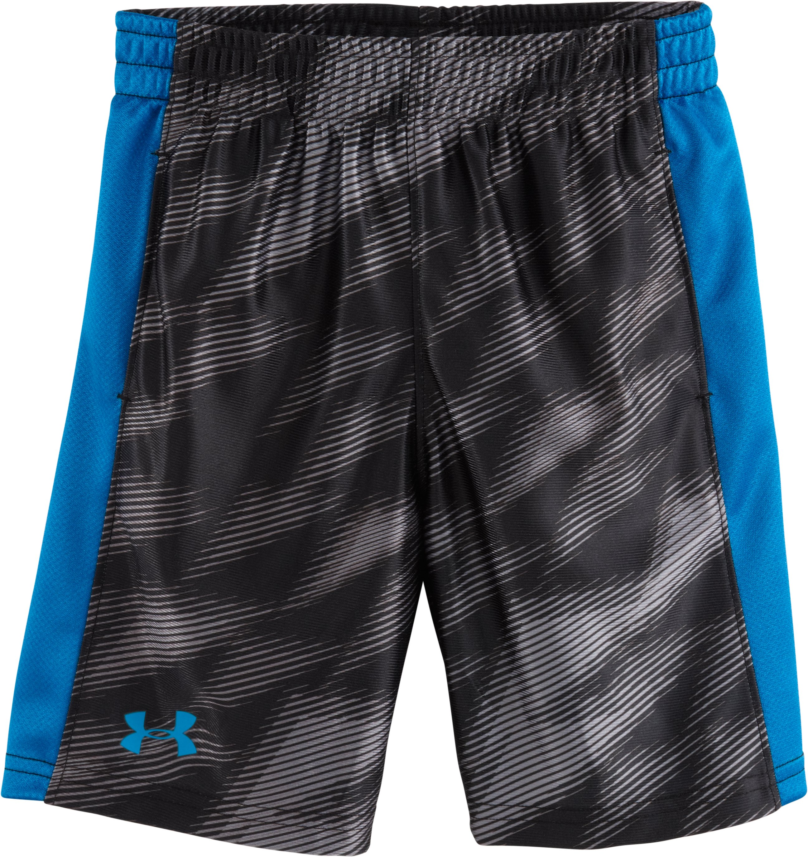 Boys' Infant UA Ultimate Velocity Shorts, ANTHRACITE, Laydown