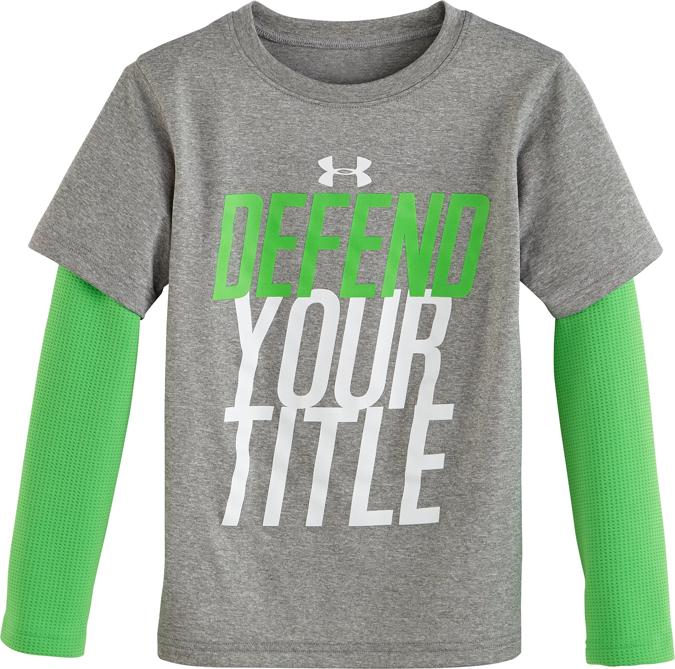 Boys' Infant UA Defend Your Title Slider, True Gray Heather, Laydown