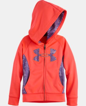 Girls' Infant UA Big Logo Glacier Full Zip Hoodie