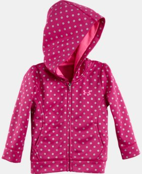 Girls' Infant UA Big Logo Shimmer Dot Full Zip Hoodie