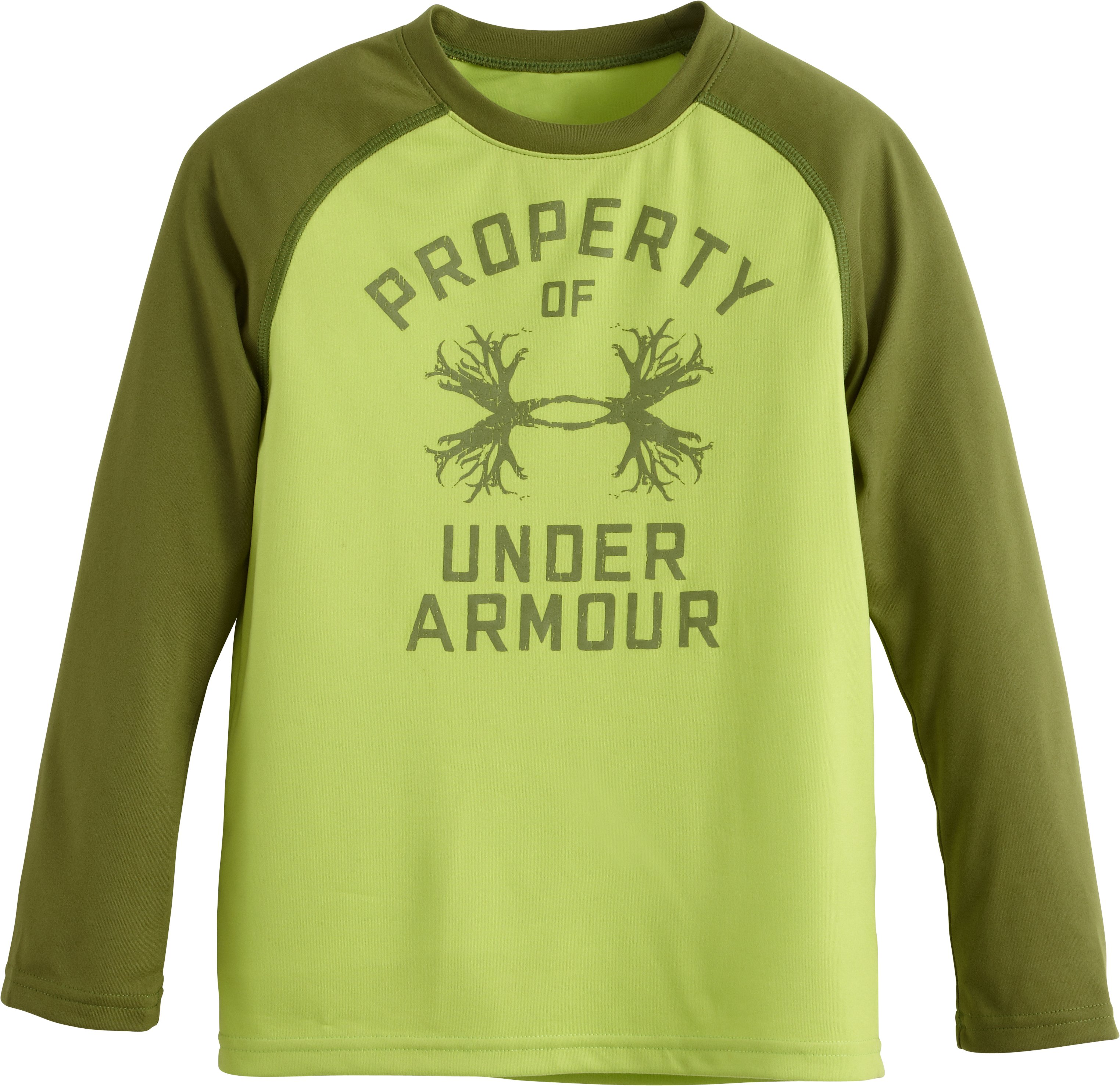 Boys' Toddler UA Outdoor Property LS T-Shirt, Cypress, Laydown