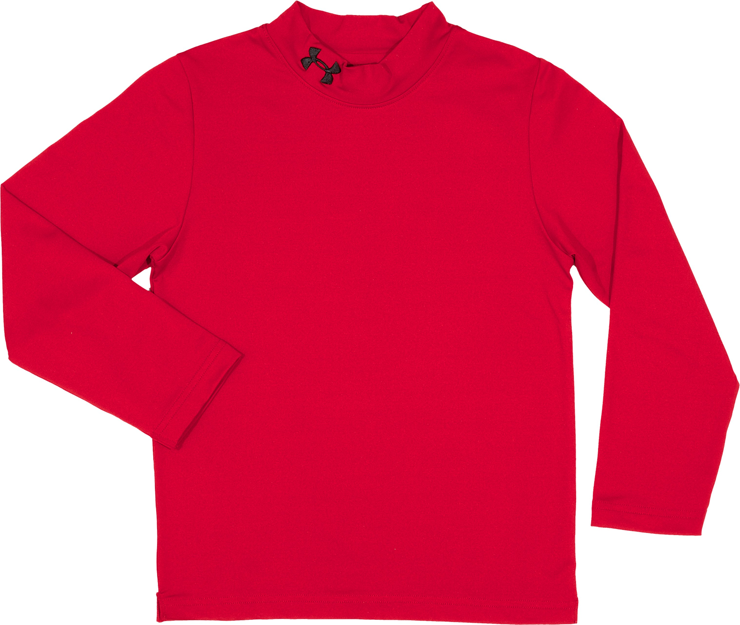 Boys' Toddler UA CG Fitted Mock, Red, Laydown