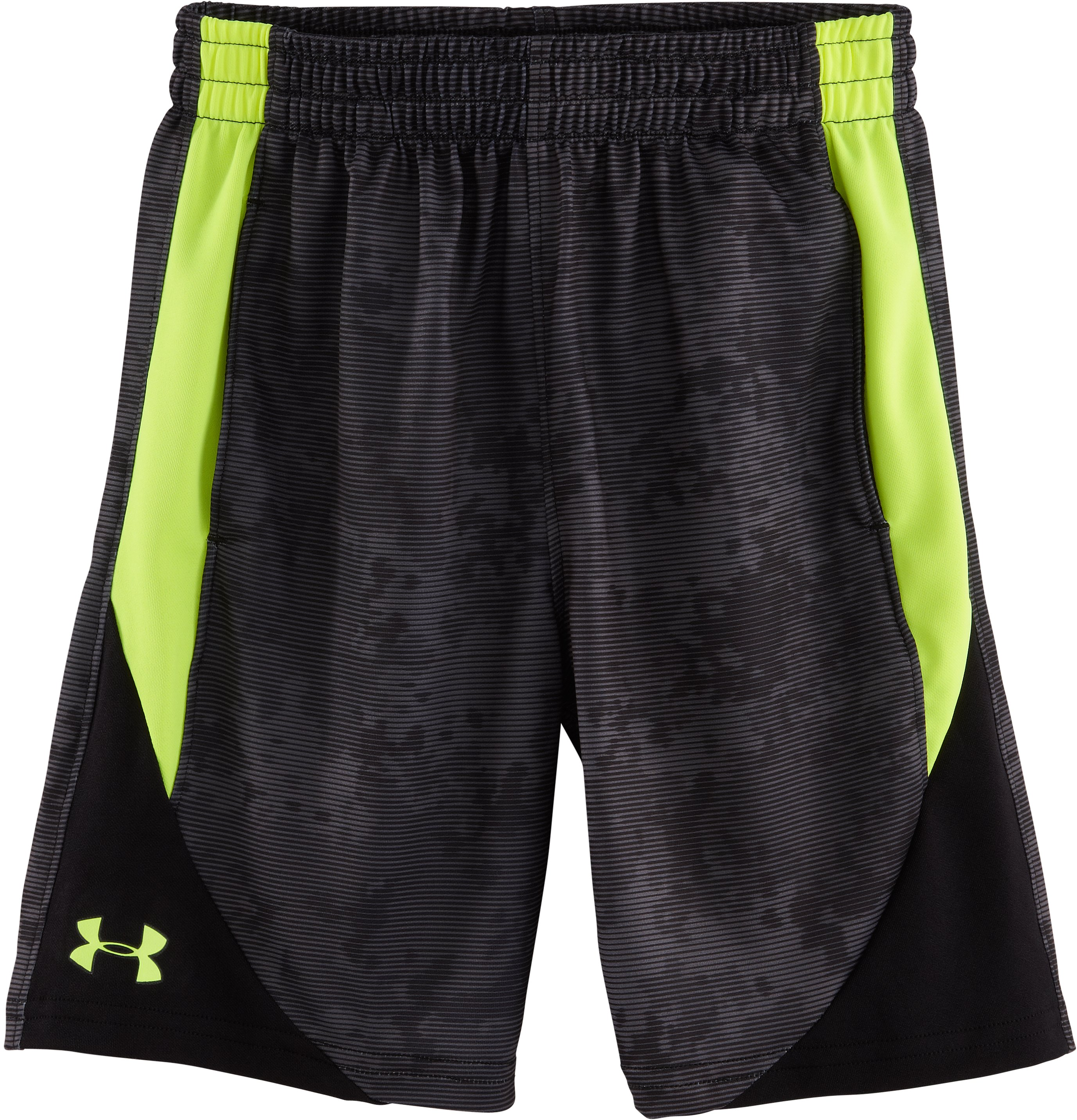 Boys' Toddler UA Nightvision Camo Shorts, Black , Laydown