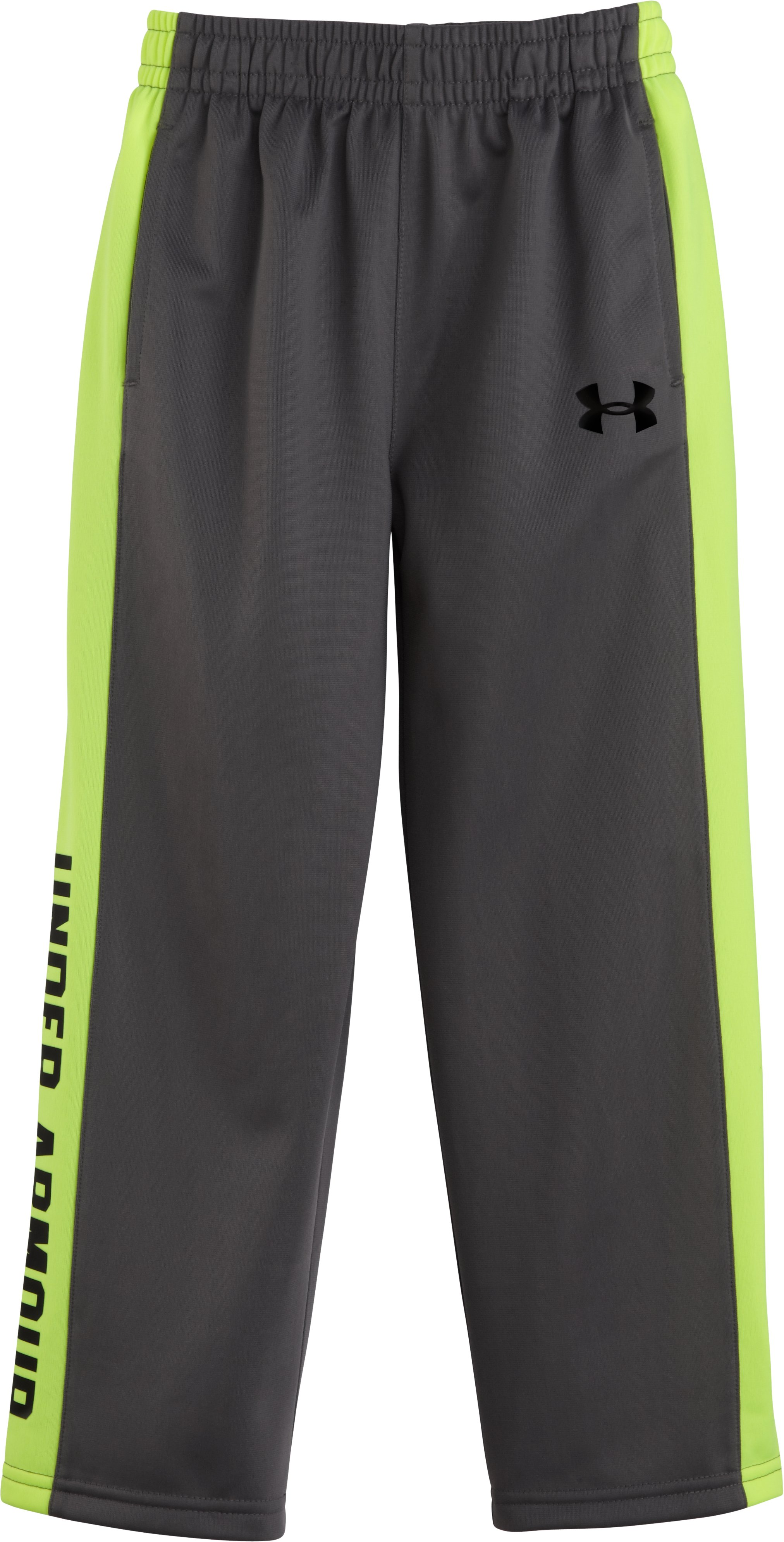 Boys' Toddler UA Brawler Pants, Graphite, Laydown