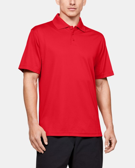 Men's UA Performance Corp Polo, Red, pdpMainDesktop image number 0