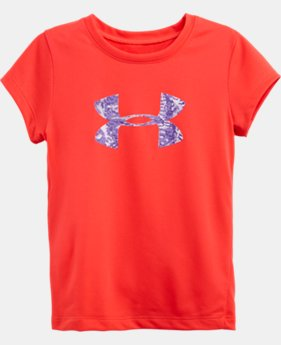 Girls' Toddler Feather Camo UA Big Logo T-Shirt