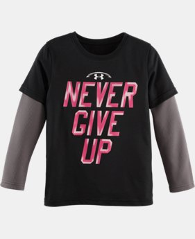 Boys' Toddler UA Never Give Up T-Shirt