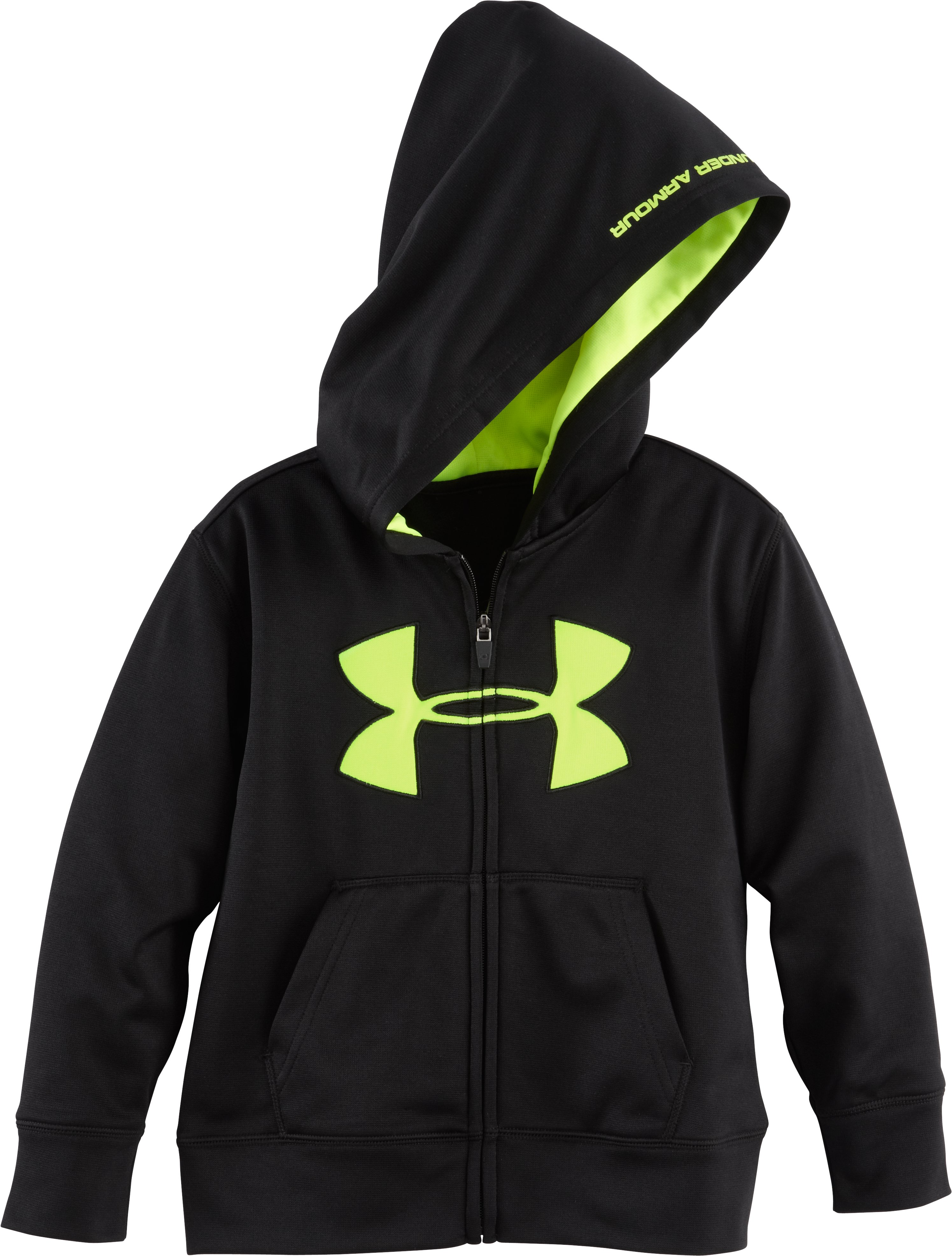 Boys' Pre-School UA Big Logo Hoodie, Black , Laydown