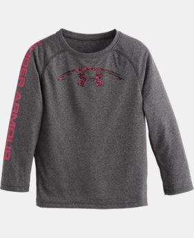 Boys' Pre-School UA Power In Pink® Football Long Sleeve T-Shirt